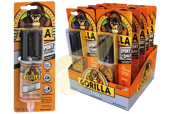 Ragasztástechnika Webáruház - GORILLA GLUE Gorilla Epoxy 5min kétkomponensű ragasztó
