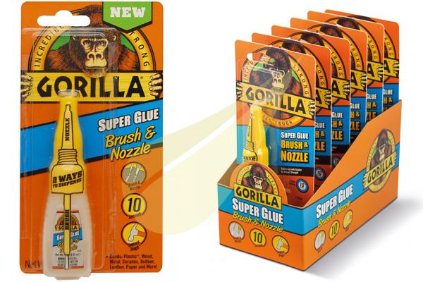Ragasztástechnika Webáruház - GORILLA GLUE Super Glue Brush pillanatragasztó
