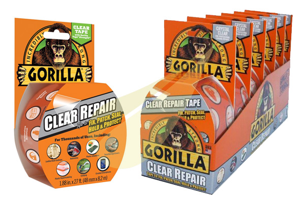 Ragasztástechnika Webáruház - GORILLA GLUE Clear Repair Tape javítószalag