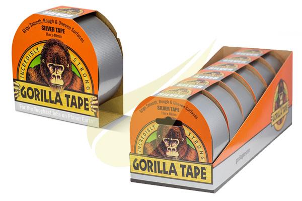 Ragasztástechnika Webáruház - GORILLA GLUE Gorilla Tape Silver ragasztószalag