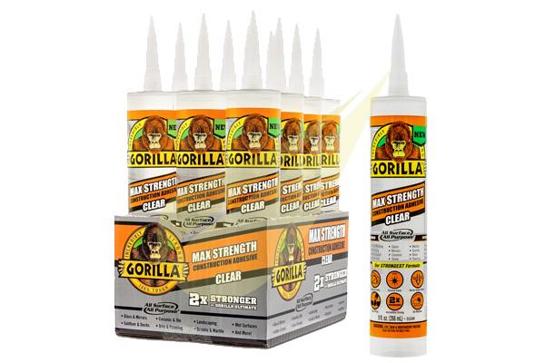 Ragasztó Webáruház - GORILLA GLUE Gorilla Construction Clear kristálytiszta építési ragasztó